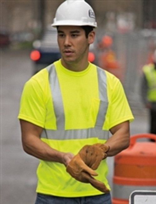 Class 2 Safety Yellow T-Shirt with Reflective Tape ANSI/ISEA *Custom Printing Available*