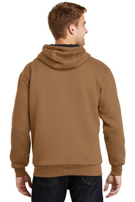 Heavyweight Full-Zip Hooded Sweatshirt with Thermal Ling - CS620