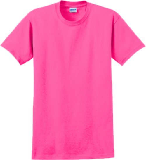 Safety Pink Short Sleeve T Shirt Front