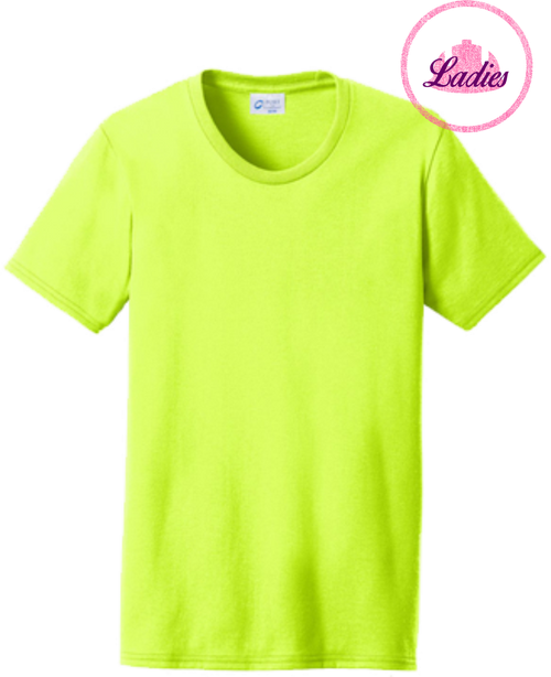 Ladies Safety Green Short Sleeve T Shirt