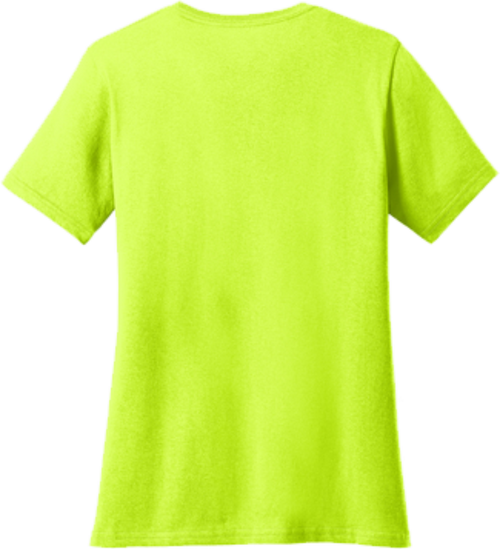 Ladies Safety Green Short Sleeve T Shirt Back