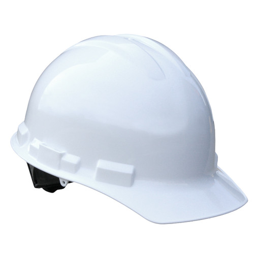 White Helmet Style Construction Hard hat Made in The USA