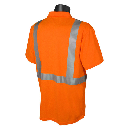 Hi-Vis Orange Class 2 Safety Short Sleeve Polo *Custom Printing Available*