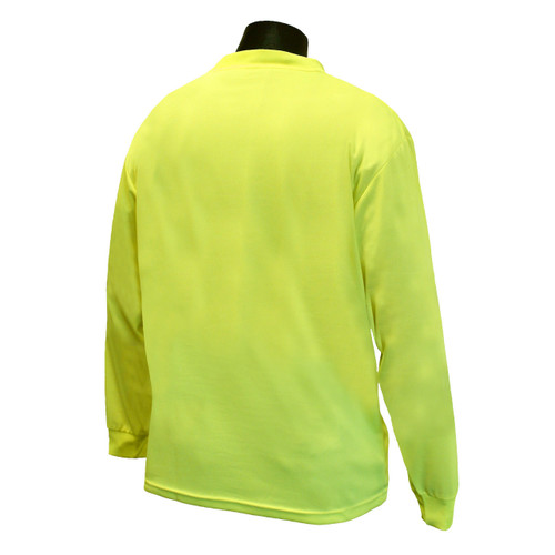 Hi-Vis Green Non-Rated Long Sleeve T-Shirt with MAX-DRI™ *Custom Printing Available*