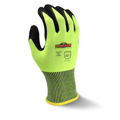Radwear® Silver Series™ Hi-Vis Knit Dip Glove