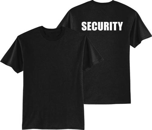 Black Security TShirt with Back Print