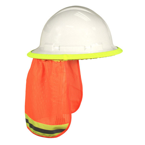 Safety Orange two tone hard hat neck shade One Size fits All