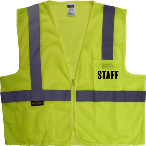 STAFF Safety Vest Mesh Class 2 with Zipper Closer