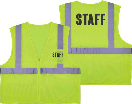 Printed STAFF Safety Vest Class 2 - Great for Hi Vis Vest for Events