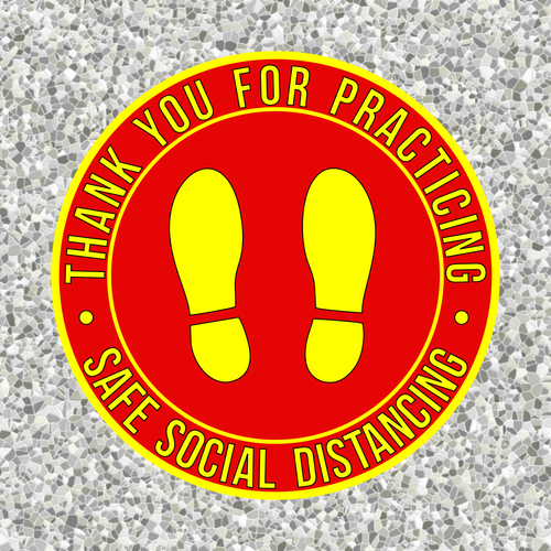 Safe Distance Social Distancing Floor Sticker | Please stay 6 ft apart floor sticker | Coronavirus Pandemic Sticker