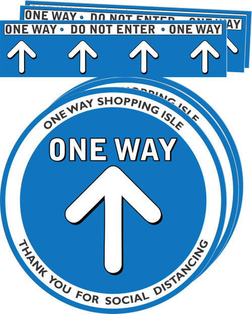 One way Aisle Social Distancing Floor Decal | Covid-19 Floor Sticker | Coronavirus Floor Decal | Social Distancing Floor Sign | Pandemic Floor Sticker | Do Not Enter Floor Sticker 3 pack