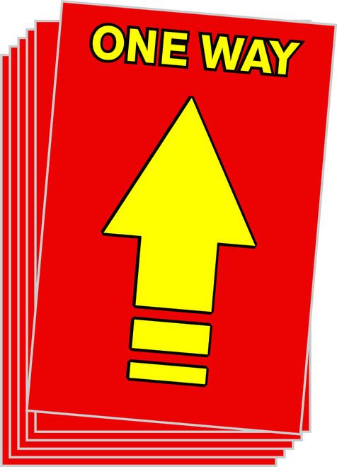 One Way Arrow Floor Sticker / One Way Floor Decal / Covid-19 Floor Signage / Pandemic Floor Decal