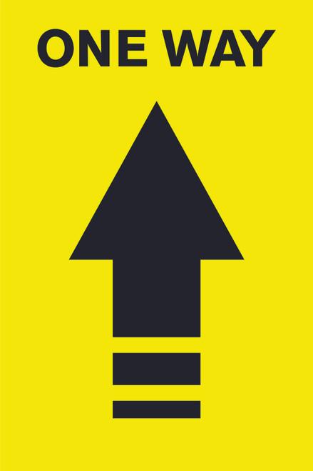 One way Social Distancing Floor Decal | Covid-19 Floor Sticker | Coronavirus Floor Decal | Social Distancing Floor Sign | Pandemic Floor Sticker | Do Not Enter Floor Sticker / Yellow floor decal