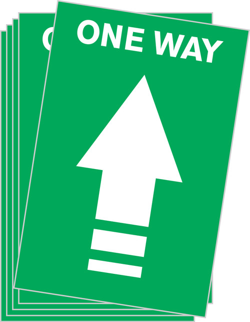One Way Arrow Floor Sticker / One Way Floor Decal / Covid-19 Floor Signage / Pandemic Floor Decal / Green Directional Floor Decal