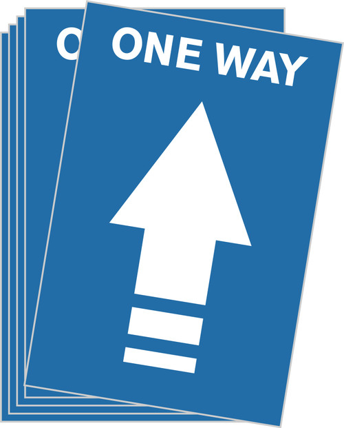 One Way Arrow Floor Sticker / One Way Floor Decal / Covid-19 Floor Signage / Pandemic Floor Decal / Blue Directional Floor Decal