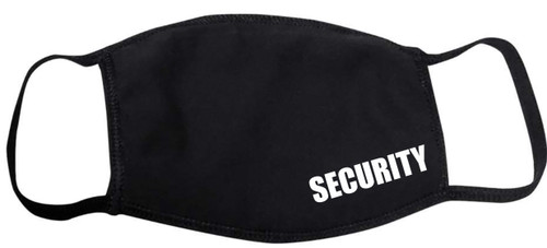 Security Guard Face Mask Black, Face Covering