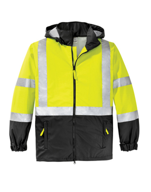 Safety Green Windbreaker Jacket Class 3
