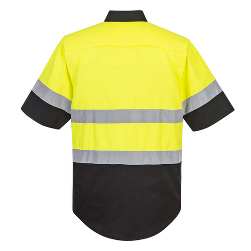 Safety Yellow Class 2 Work Shirt with Black Bottom