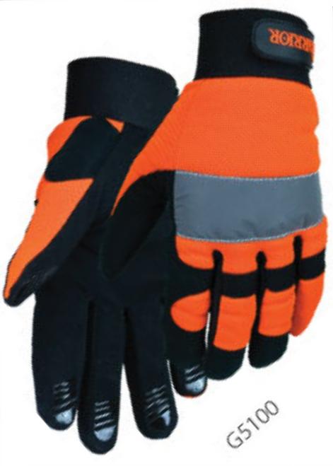 Safety Orange Mechanics Gloves