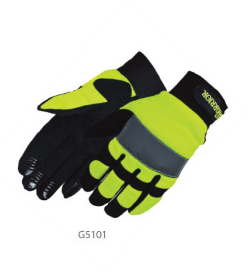 Safety Green HiViz Lime Mechanics Gloves | Work Gloves
