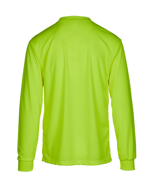 Hi-Viz Moisture Wicking Long Sleeve T-shirt with Pocket