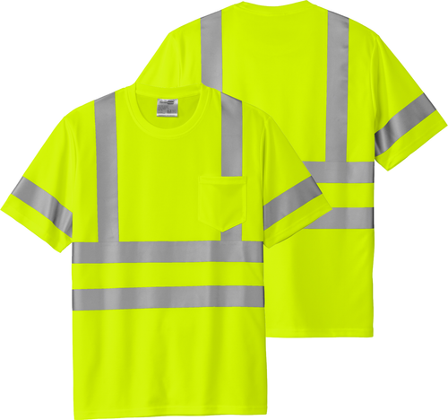 Safety Yellow Class 3 Reflective Tshirt 100% Polyester | Safety Green Class 3 Reflective Tshirt 100% Polyester