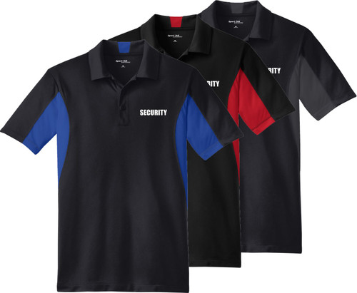 Security Polo - Security Snag Proof Color Black Polo Available in Tall Sizes