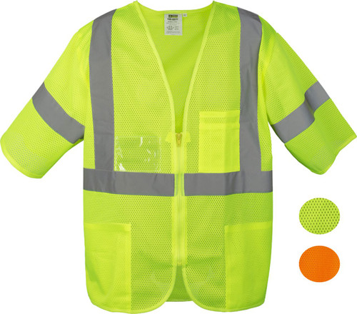 Safety Vest Class 3 zipper closure 3 pockets