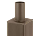 """Security Lighting Tenon Adapter for SES 4"""" Poles"""