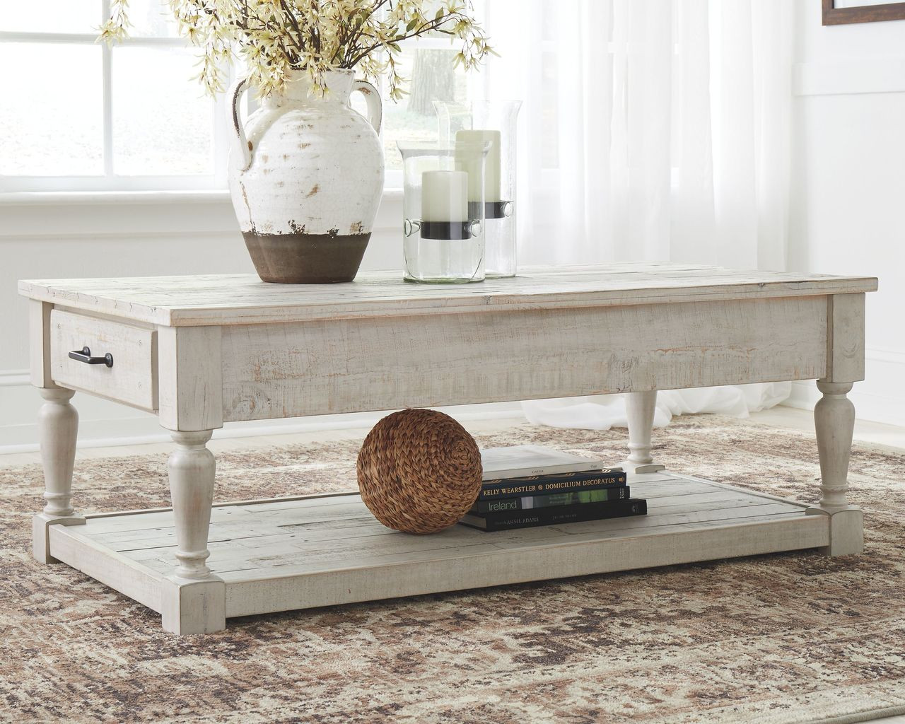 - The Shawnalore Whitewash Rectangular Cocktail Table Available At 5