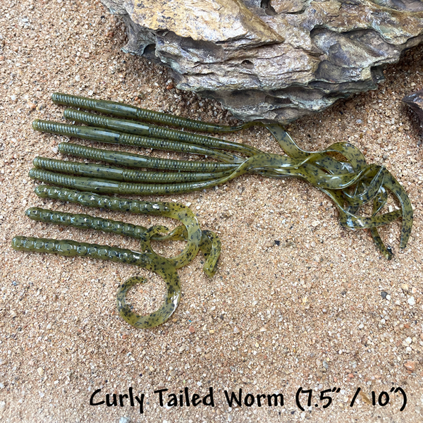 """Curly Tailed Worm (7.5"""" / 10"""")"""