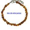 "Amber collar 12-15"" no stones"