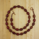 Bamboo View - Sacred Scarabs on Copper Necklace (21 inches) (1376)