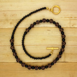 Bamboo View - Golden Glimmer Necklace on Gold Plate (18 inches) (1386)