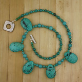 Bamboo View - Turquoise Memories on Sterling Necklace (22 inches) (1374)