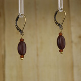 Bamboo Right View - Koffee Kraze Brown Bean on Antique Gold Earwires (1435B)