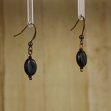 Bamboo Right View - Koffee Kraze Black Bean on Antique Copper Earwires (1435C)