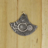 Bamboo View Front - Pendant - Fine Silver Eclipse Diamond with no stone-1 (1456)