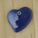 Bamboo Side 1 View - Pendant - Ceramic Heart - A (1487A)