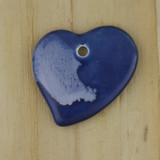 Bamboo Side 1 View - Pendant - Ceramic Heart - B (1487B)