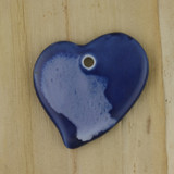 Bamboo Side 1 View - Pendant - Ceramic Heart - D (1487D)