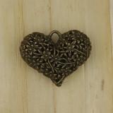 Bamboo View - Pendant - Brass Heart (1514)