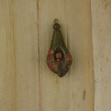 Bamboo Front Side View - Pendant - Unakite Flower A on Antique Gold (1523A)