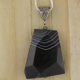 Bamboo View - Side 1 - Pendant - Banded Onyx Pendant A (1144)