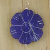 Bamboo View - Side 1 - Pendant - Lapis Lazuli Flower Pendant (1517)