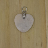 Bamboo View - Side 1 - Pendant - Fossil Coral Heart Pendant (0218)