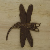 Bamboo View -  Pendant - Antique Copper Dragonfly (1498)