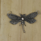 Bamboo View -  Pendant - Silver Plate Dragonfly (1500)