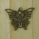 Bamboo Front View -  Pendant - Brass Butterfly (1499)