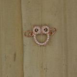 Bamboo Front View -  Pendant - Copper Owl Charm (1501O)